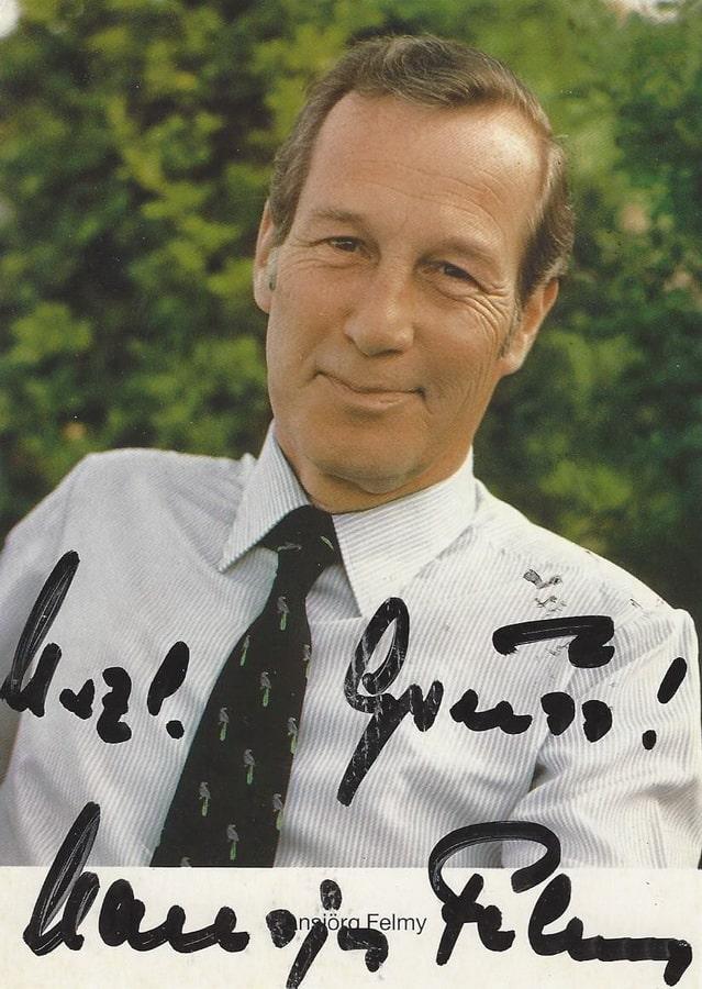 Hansjörg Felmy Autogramm